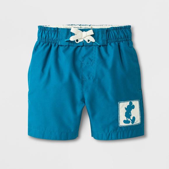 Disney Mickey Mouse Swim Trunks Shorts Boy Size 5T